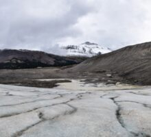 Panoramic of the Athabasca Glacier in the Canadian Rockies Sticker