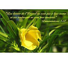 Lam. 3:22 fr Photographic Print