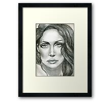 Angelina, The Classic Muse,by Alma Lee Framed Print