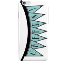 Manhattan 1920s Deco Blues Banner… CHEERS! iPhone Case/Skin