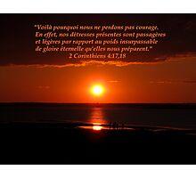 2 Cor. 4:17,18 fr Photographic Print
