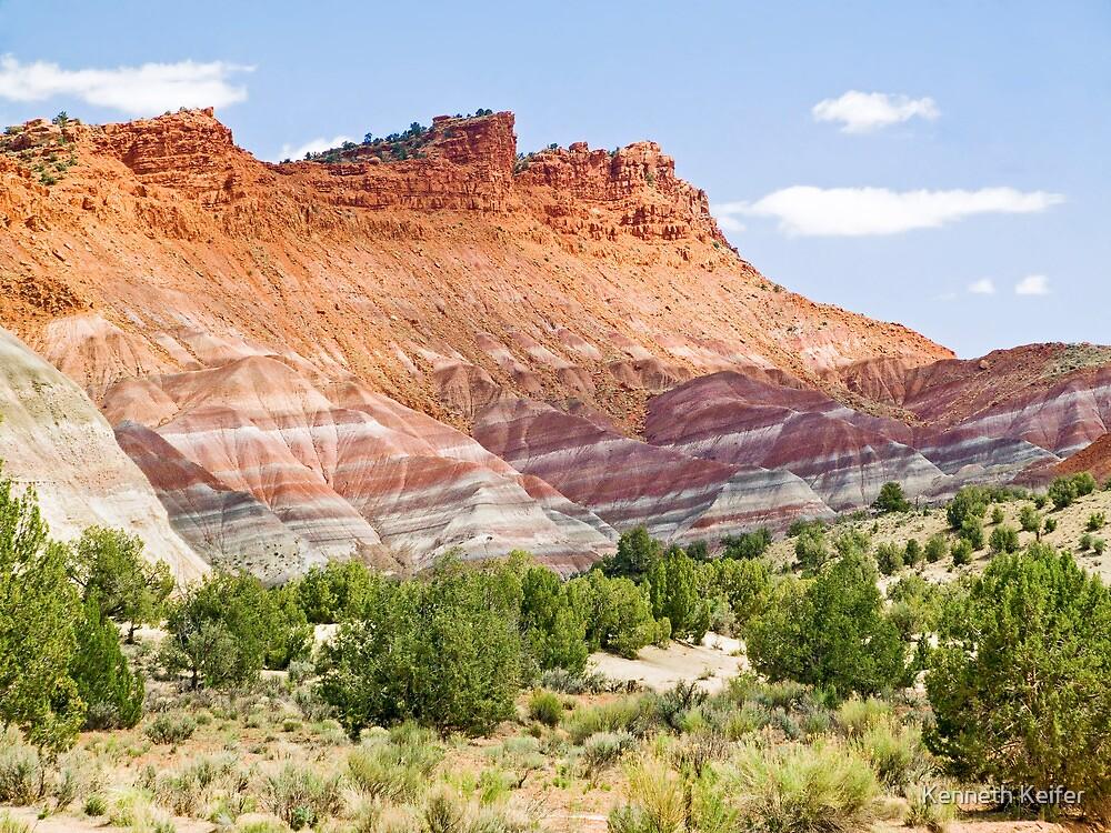 Colorful Cliffs by Kenneth Keifer