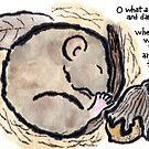 Hibernating Dormouse and Acorn by dosankodebbie