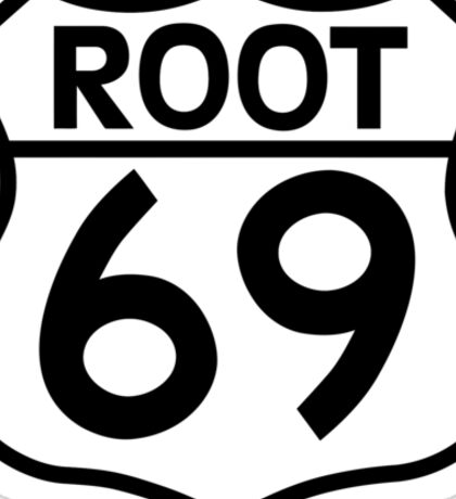 Aussies Get Their Kicks From... Root 69! Sticker