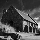 church of the good shepherd, lake tekapo, nz by rina  thompson