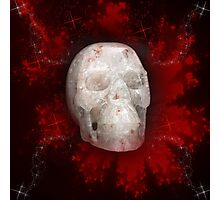 Crystal Skull On Red Photographic Print
