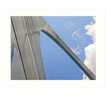 Up the Gateway Arch Art Print