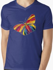 Rainbow Butterfly Mens V-Neck T-Shirt