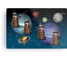 March Of The Daleks Metal Print