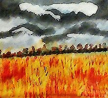 Batten down the hatches!!! watercolor by Anna  Lewis