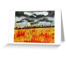 Batten down the hatches!!! watercolor Greeting Card
