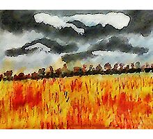 Batten down the hatches!!! watercolor Photographic Print