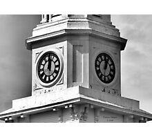 Bethany Church Clock Tower Foxboro, MA - B&W Photographic Print