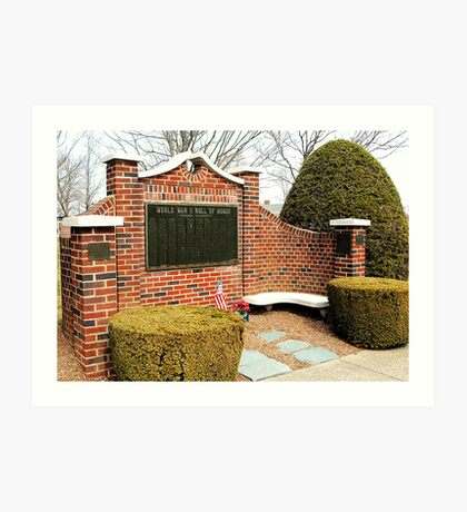 World War II Memorial Foxboro, MA Art Print