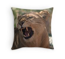 Lioness: See Me Roar Throw Pillow