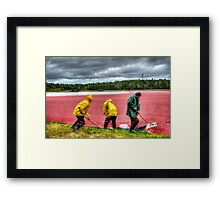 HDR Workers Framed Print