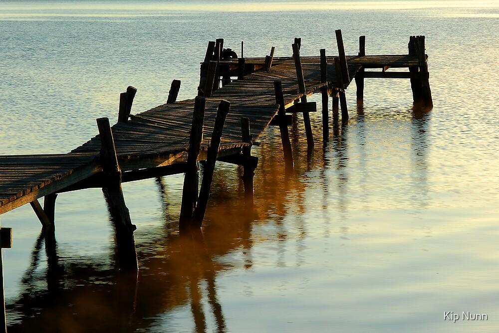rickety old jetty by Kip Nunn