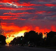 Sunset On 8th Street by Chet  King