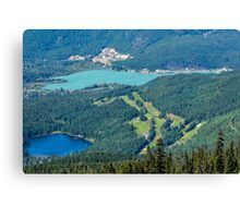 View over Whistler, Canada Canvas Print