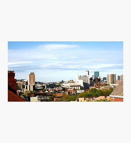 Hanging Out Rooftop - Mission Hill - Boston, MA Photographic Print