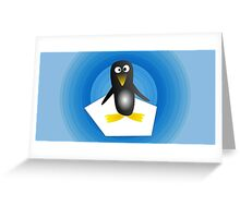 Penguin with Gradient  Greeting Card