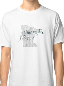 Minnesota State Typography Classic T-Shirt