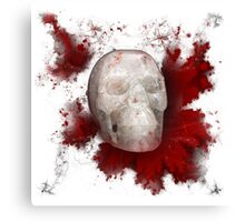 Crystal Skull With Red On Transparent Background Canvas Print