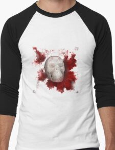 Crystal Skull With Red On Transparent Background Men's Baseball ¾ T-Shirt