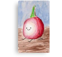 Happy Lil Onion Canvas Print