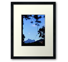 Mt Warning Framed by Trees Framed Print