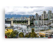 Granville Island, Vancouver, Canada Canvas Print