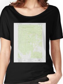 USGS Topo Map Oregon Foreman Point 279915 1962 24000 Women's Relaxed Fit T-Shirt