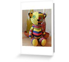 Stripey Cat! Greeting Card