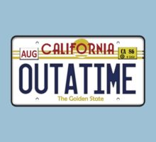 Outatime License Plate  Kids Tee