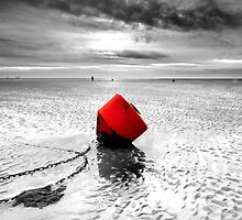 Red buoy  Cleethorpes by Keith Stocks
