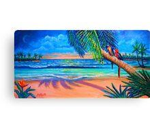 Love Birds Paradise Vacation Canvas Print