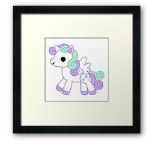 Lavender alicorn Framed Print