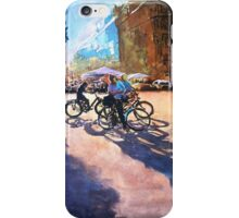Bicycle shadows on the sunny street iPhone Case/Skin