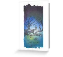 Evening Walk Greeting Card