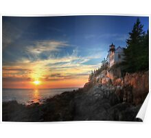 Sunset Glow - Bass Harbor Poster