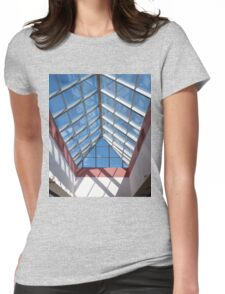 View from below the transparent roof of the glass Womens Fitted T-Shirt