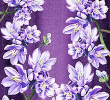 Purple On Purple Garden Flowers by Irina Sztukowski