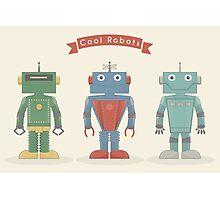 Vintage Robots Photographic Print