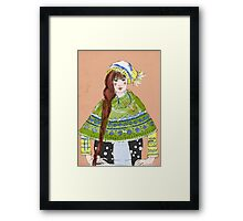 winter girl Framed Print