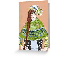 winter girl Greeting Card