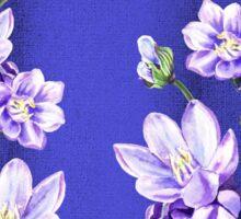 Purple Flowers Blue Blue Sky Sticker