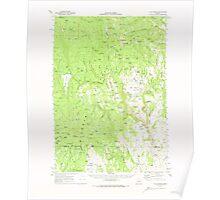 USGS Topo Map Oregon Flag Prairie 282498 1970 62500 Poster