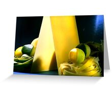 Pasta And Zucchini Yellow And Green Greeting Card