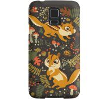 Two Cute Chipmunks in Autumn Background Samsung Galaxy Case/Skin