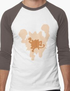 PKMN Silhouette - Mankey Family Men's Baseball ¾ T-Shirt